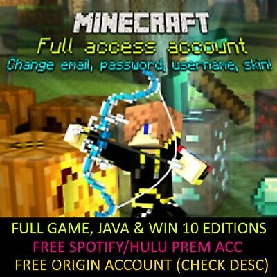 ⭐⭐Minecraft Pc Game Java & Windows 10 Edition & Unmigrated Account + 20 Alts⭐⭐