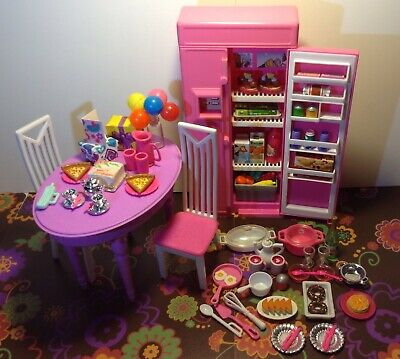 Barbie Doll Kitchen Furniture Birthday Tea Party Dishes Food Accessories Lot