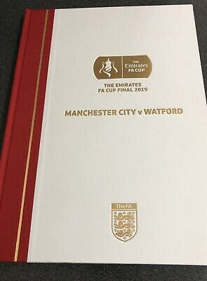Limited Edition Hardback Programme Manchester City v Watford 2019 FA Cup Final