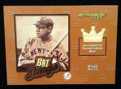 2002 Donruss Bat Kings BABE RUTH Authentic GAME-USED BAT Relic 74/125 !! YANKEES