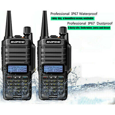 Baofeng UV-9R PLUS Earpiece Long Range Two Way Radio Handheld VHF Walkie Talkie