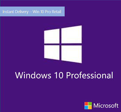 Microsoft Windows 10 Pro Professional 32/64-bit Genuine License Key Product Code