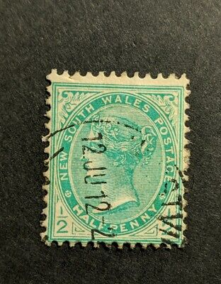 Australian Pre Decimal State Stamp NSW New South Wales 1892 - 1910 1/2 d Green