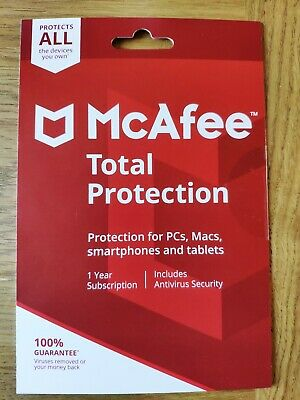 McAfee Total Protection 2019 (ALL DEVICES YOU OWN/1Yr licence) PC/Mac