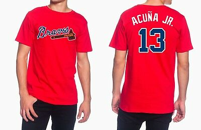 Ronald Acuña Jr Atlanta Braves #13 Jersey Style Men's Graphic T