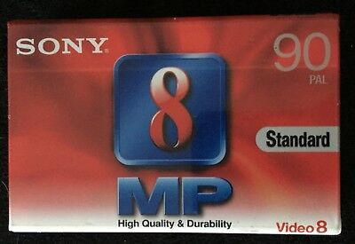 SONY P5-90MP3 Video 8 PAL Standard Cassette Tape BRAND NEW and Sealed