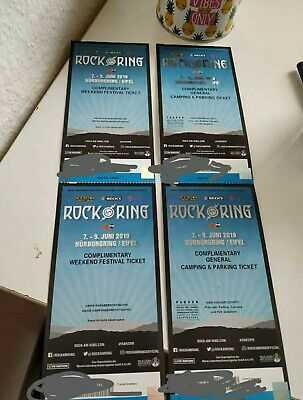 2 ROCK AM RING 2019 Weekend Festival Tickets +General Camping & Parking Tickets