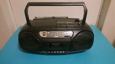 Panasonic Stereo System CD Radio Cassette Tape Boombox Portable RX-DS10 X-Bass
