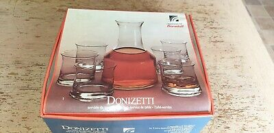New Bormioli Light & Music6 Hand Blown Whisky/ Water Tumblers & Carafe Decanter