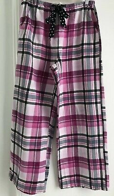 Peter Alexander Purple Chequered Flannelette PJ Pants. Size Small. Collect Or Po