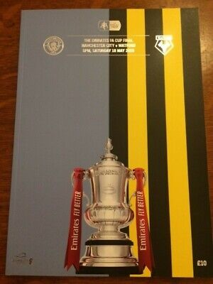MINT - FA CUP FINAL Watford v Manchester City 18 May 2019 Official Programme