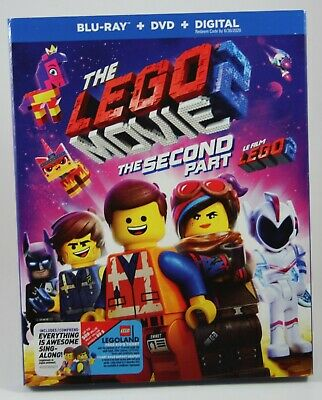 The LEGO Movie 2: The Second Part Bluray BRAND NEW + DVD + Digital Slipcover
