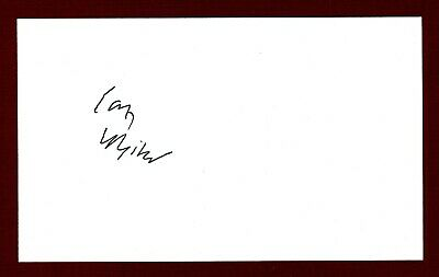 Ian Whitcomb British Singer/Songwriter Signed 3x5 Index Card C15434