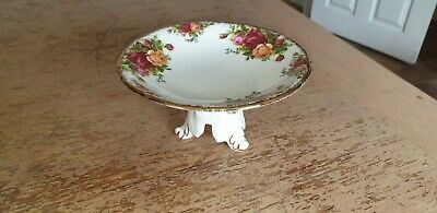 ROYAL ALBERT OLD COUNTRY ROSES Small Pedestal Comport/tazza/sweet stand