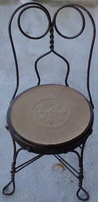 Adorable Vintage Wrought Iron Child's Chair - GCD - OLD CHAIR NEEDS TLC CUTE!