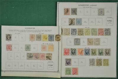 Luxembourg Stamps Selection Of Early Issues On 2 Pages  (H132)