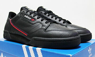 NIB ADIDAS Continental 80 Men's Black Leather Scarlet-Red 12 Sneakers trainers