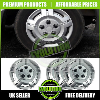 """16"""" To Fit Ford Transit Connect Wheel Trims Deep Dish Hub Caps Domed Commercial"""
