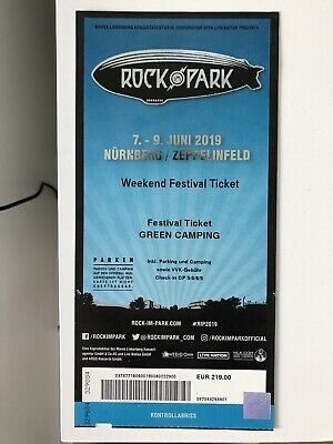 Rock im Park 2019 Green Camping Weekend Festival Ticket