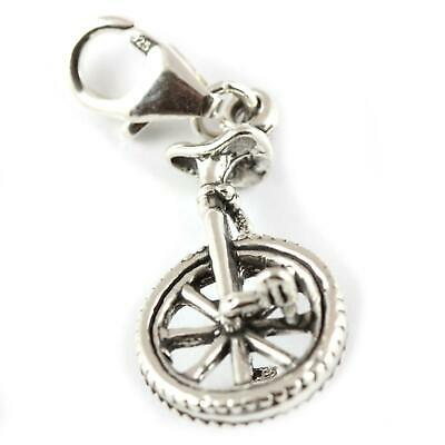 Soldered On Clasp Motocross Motor Dirt Bike 925 Sterling Silver Clip On Charm