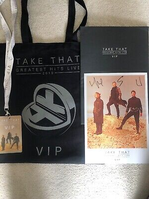 Take That Odessey 2019 Tour VIP Pack, Tote Bag, Signed Print, Lanyard (no Cup)