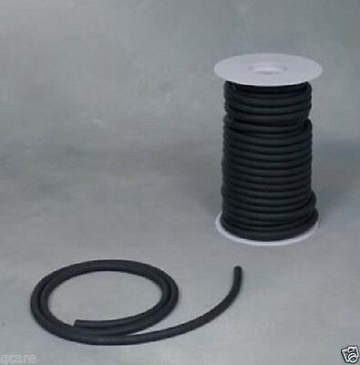 "50ft. BLACK RUBBER SURGICAL LATEX TUBING 1/4"" I.D x 1/16 wall x 3/8 O.D  50'REEL"