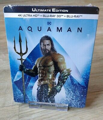 Aquaman Steelbook Blu-ray 4K/3D/2D Ultimate Edition New Sealed