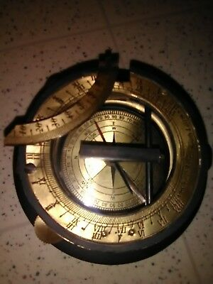 Nautical Marine Brass Sundial Compass Working Replica Collectible Compass Gift