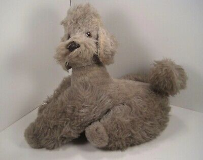 Steiff Grey Woolen Poodle Made For FAO Schwarz