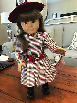 1989 American Girl Samantha 5 Collections, Rare Locket, Bed, Trunk, Accessories
