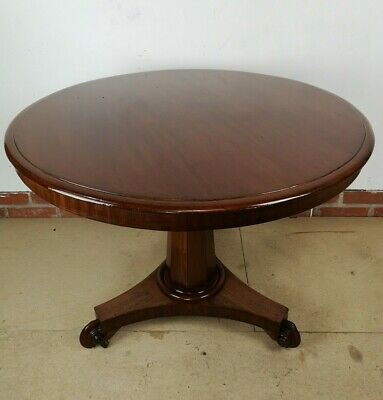 William IV Large Tilt Top Centre / Occasional Table in Mahogany on Tri Form Base