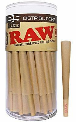 RAW Cones Classic King Size | 100 Pack | Natural Pre Rolled Rolling Paper with