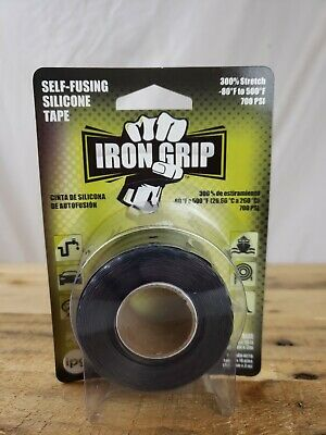 "IPG Iron Grip Self-Fusing Silicone Tape, 1"" x 10 FT, Black Single Roll"
