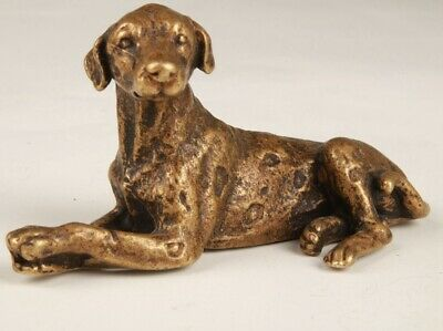 Chinese Bronze Handmade Cute Dog Statue Auspicious Decorative Gift Collection