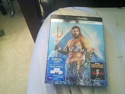 Aquaman (4K Ultra HD/Blu-ray/Digital, 2019) with slipcover