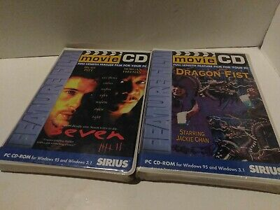 Seven/Dragon Fist 2-Movies CD Sirius PC CD-ROM Windows 95 3.1 New Sealed
