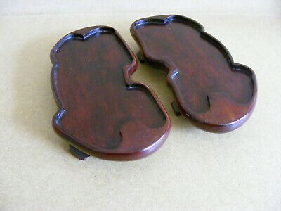 2 Vintage Chinese Wooden Ornament / Figure Stands