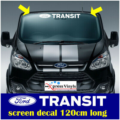 Ford transit van windscreen decal vinyl graphic. connect custom