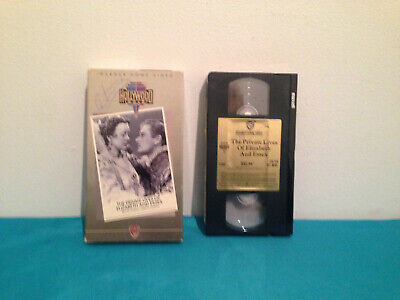 The private lives of elizabeth and essex   VHS tape & Sleeve