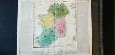 Geographical and Statistical Map of Ireland (No. 35) 1820, Lavoisne 2 maps