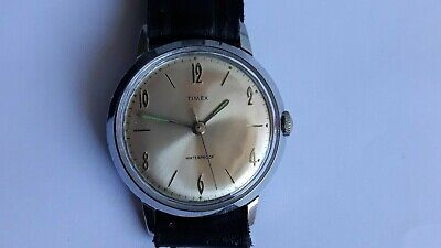 VINTAGE Rare nice! Dial Timex Marlin watch Great Britain NR Check it ! NR
