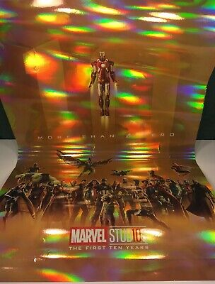 Rare Marvel Studios Avengers Endgame The First 10 Years Poster Cast Exclusive