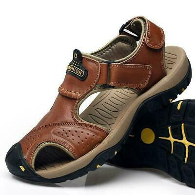 Men's Outdoor Hiking  Leather Sandals Summer Camping Fisherman Shoes US