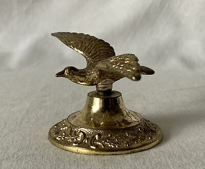 Vintage Brass Bird - Seagull I think - on Stand Ornament