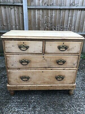 Victorian Antique / Vintage Shabby Chic Project Pine Chest Of Draws