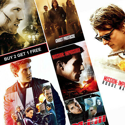 Mission Impossible Movie Posters A4 HD Gloss Prints Art Decor Ghost Protocol MI3