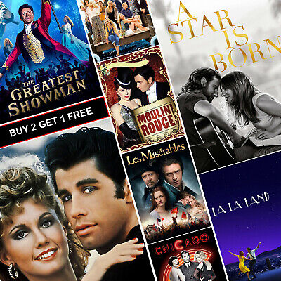 Best MUSICAL Movie Posters A4 HD Gloss Prints Art Grease Mamma Mia Star Is Born