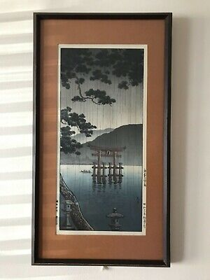 Vintage/Antique Japanese Woodblock Print Signed Framed #7