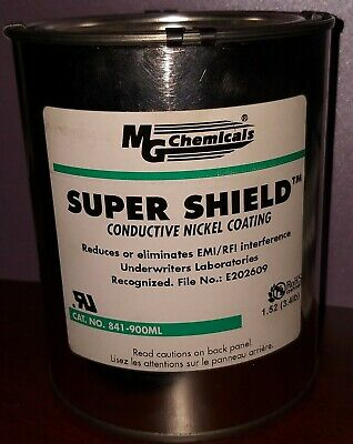 MG Chemicals 841-900ML Super Shield Nickel Conductive Coating, 900 ml