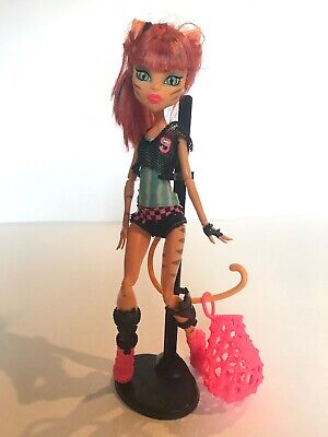 Mattel Monster High Toralei Stripe Ghoul Sports Doll with Net Bag -VGUC